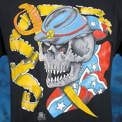 футболки vintage 80s CIVIL WAR SKELETON