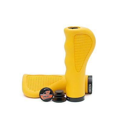 Ergo Foam - Asti Ergo lock ISOPrene Foam Comfort Pro Shorex MTB BMX Race Bicycle Grip Yellow