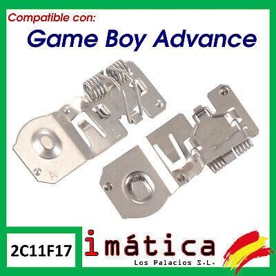 METAL DE PILAS PARA NINTENDO GAME BOY ADVANCE TRASERO CONTACTO BATERIA TAPA