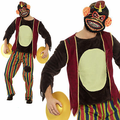 Erwachsene Deluxe Am Klatschen Affe Zirkus Halloween Herren Kostüm Outfit Neu