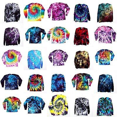 Tie Dye T Shirt Long Sleeve Adult Tye Die S M L XL 2XL 3XL Cotton 100% Adult Tye Dye T-shirt
