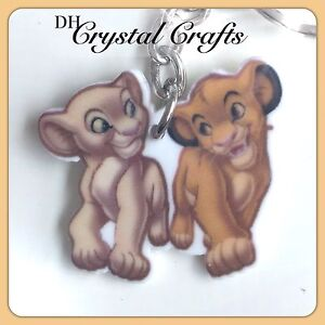 Disney The Lion King Theme Handmade Keyring Bag Charm Simba Nala Gift #10