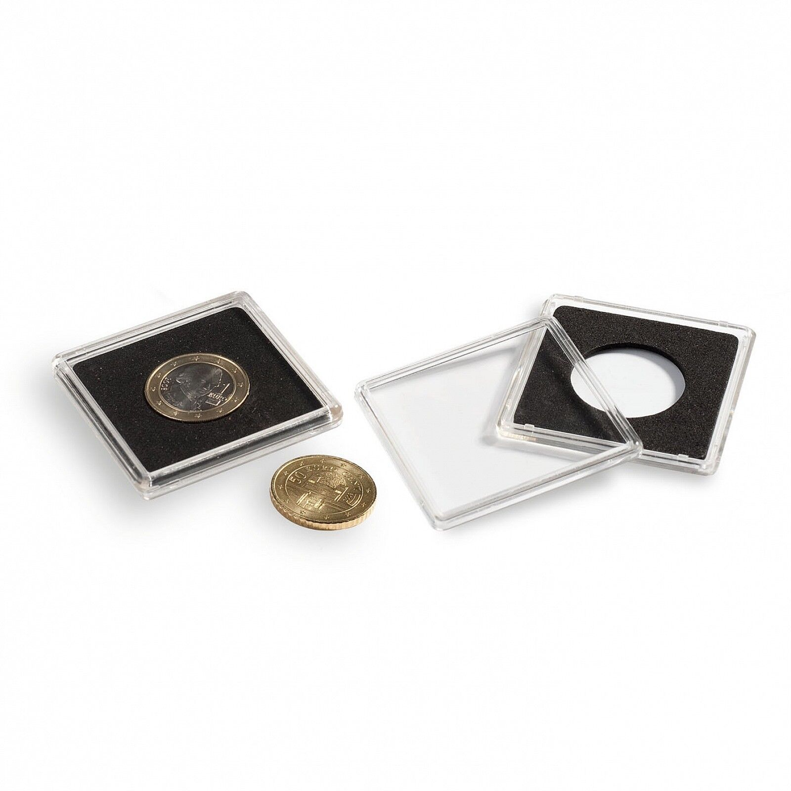 1 Only Lighthouse Quadrum 31mm Square Coin Capsule