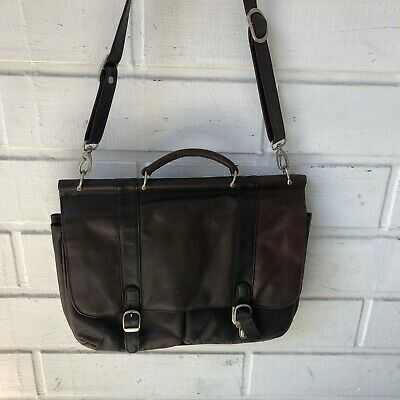 SAMSONITE Leather Shoulder Messenger Bags Business Work Bag Laptop Briefcase
