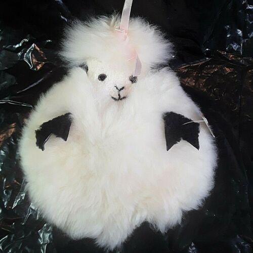 Girls Sheepskin Lamb Nursery Throw Pillow Cover White Fluffy