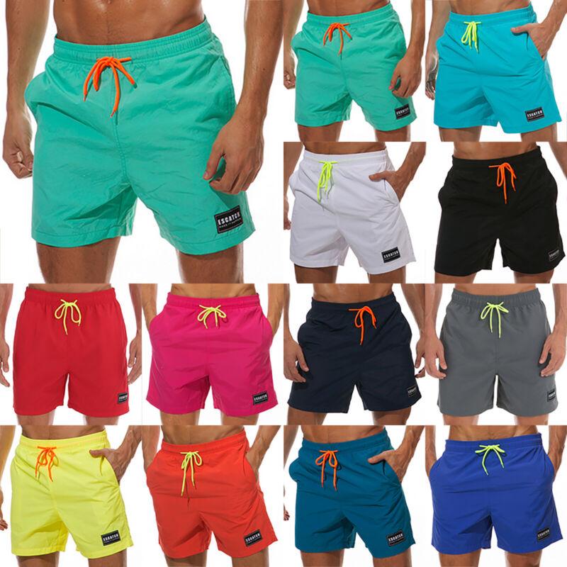 Men Swim Shorts Swimwear Swimming Trunks Underwear Running B