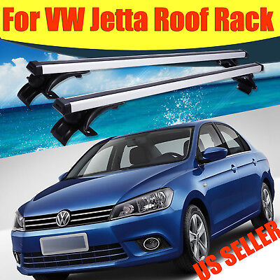 """For VW Jetta 2006-2017 48""""Top Luggage Cross Bar Roof Rack Carrier w/3 Kind Clamp"""