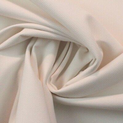 Ballard Designs Pique Salt White Sunbrella Woven Outdoor Indoor Fabric By Yard