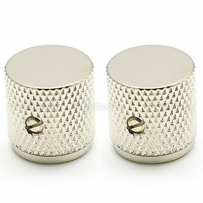 "2x Gold Vintage Tele Style Knob w// Super Heavy Knurling For 1//4/"" Solid Shaft NEW"