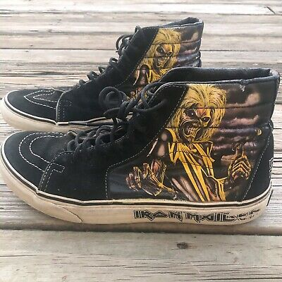 Vans Iron Maiden Metal Killer Hi Top Skateboard Shoes Sneakers Mens Size 10 Sk8