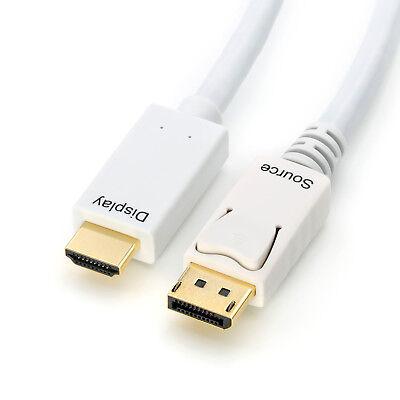 Adapter Kabel 2m DisplayPort 1.2 / DP auf HDMI 1.4, Wandler 2160p, 30 Hz