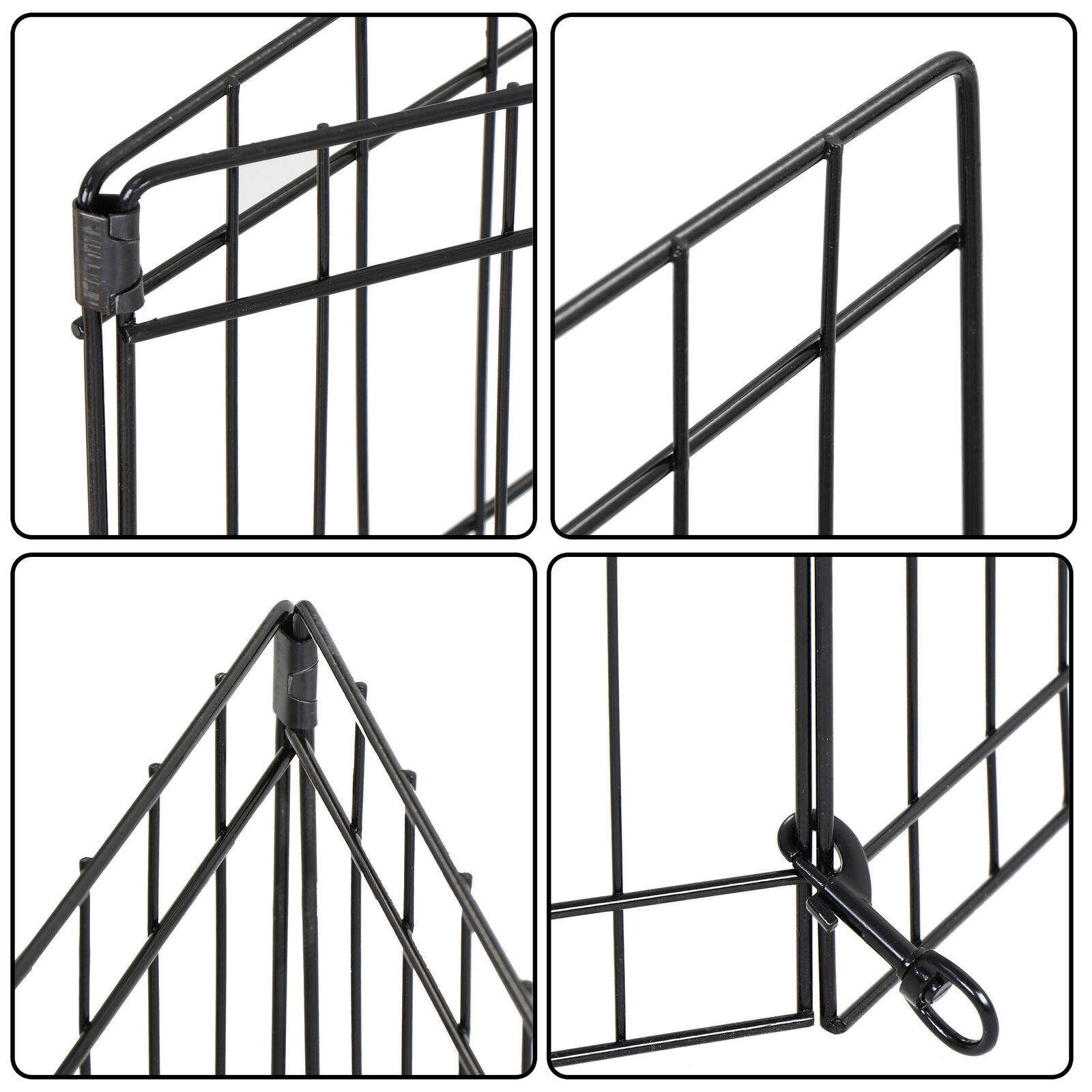 2PCS 24 Inch 8 Panels Dog Playpen Tall Large Crate Fence Pet Play Pen Cage Dog Supplies