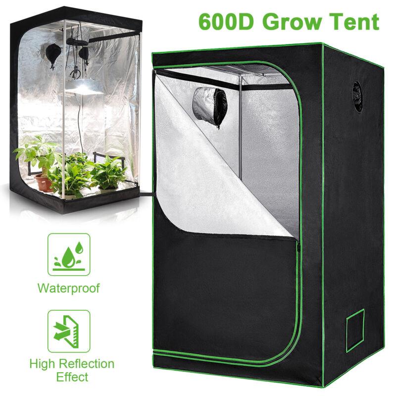 Hydroponics Grow Tent 100% Reflective Mylar 600D Non Toxic Growing Box Indoor