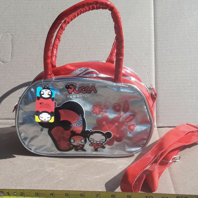 NWT VINTAGE Pucca Funny Love Purse Shoulder bag w/Strap ANIME