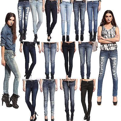 Anladia Womens Skinny Jeans Girls Ladies Slim Pencil Legging Denim Pants Trouser - Girls Pencil Leg Jeans