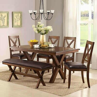 Dining Room Table Set Farmhouse Wooden Kitchen Tables And Chairs Sets For Six
