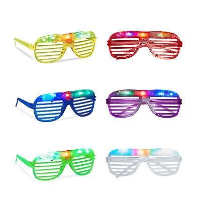 Relaxdays Partybrille LED, Nerdbrille, Atzenbrillen für Karneval und Party