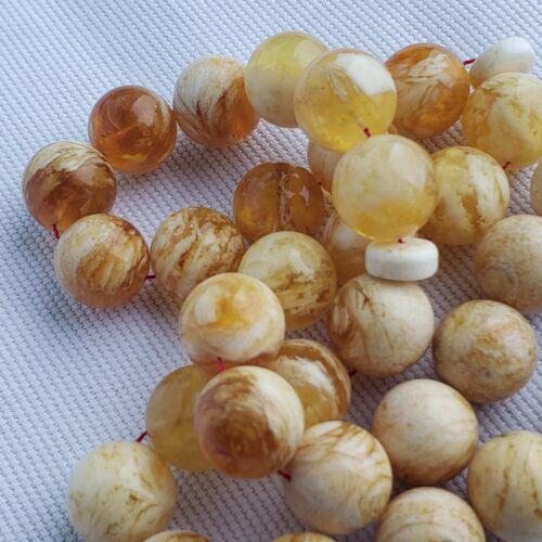 Natural Baltic Amber Rosary 33 Islamic Prayer Beads 65 Gr Misbaha Tasbih PRESSED