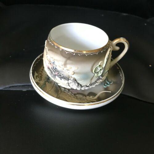 Dragonware Lithophane Cup & Saucer - A
