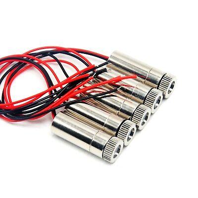5pcs 405nm 5mw Focusable Dot 3v5v Laser Diode Module Violet-blue Light 12x35mm