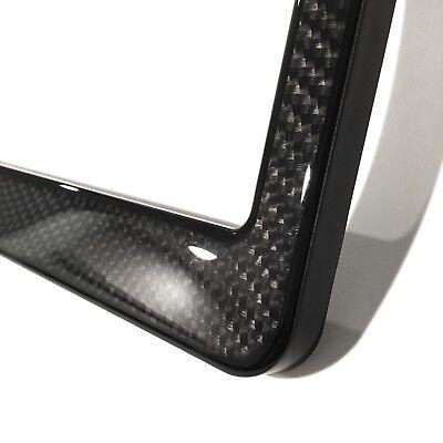 3K Twill Real Carbon Fiber License Plate Frame For BMW Maserati ...
