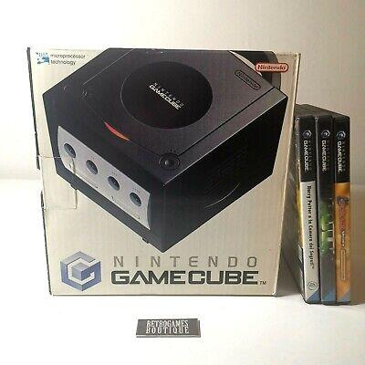 Console NINTENDO GAMECUBE PAL Black BOXATO + Manuali e Giochi - OFFERTA