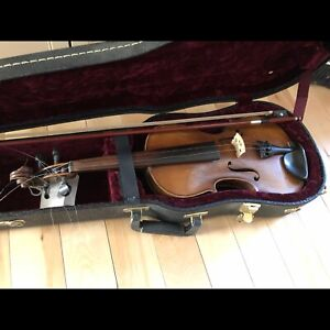 Old European Violin with the Case and two bows.