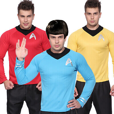 Herrenkostüm Halloween Langarm T-Shirt Uniform Star Trek Fasching Verkleidung