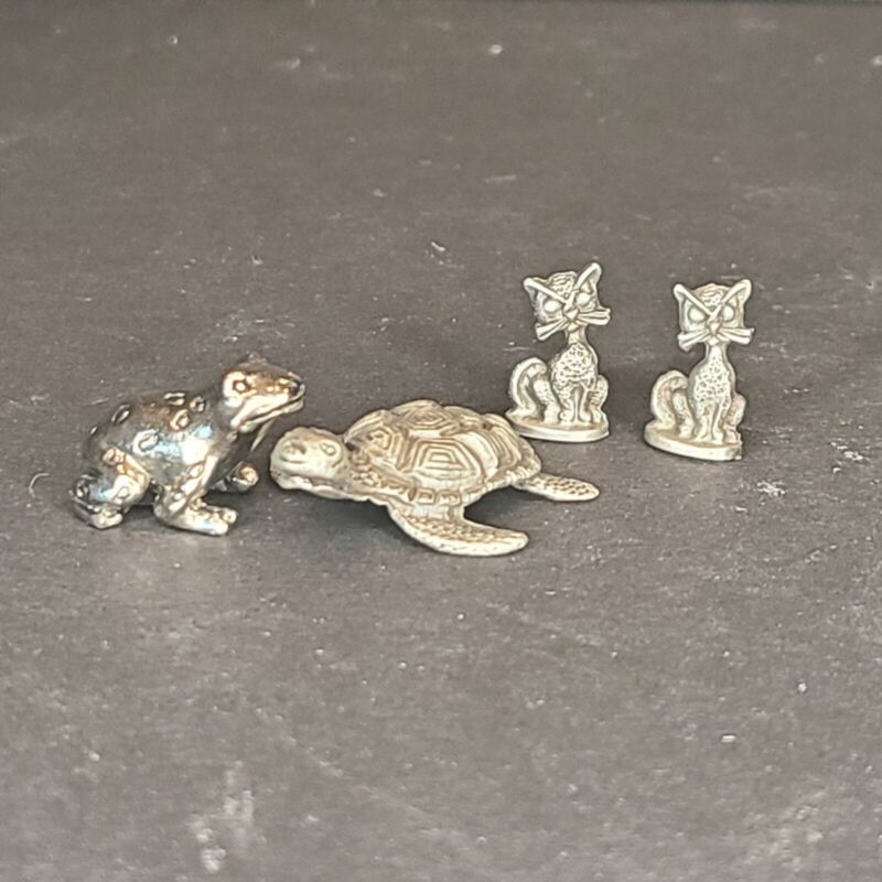 Metal Frog/Toad Turtle/loggerhead cats - figurines art collectors miniatures