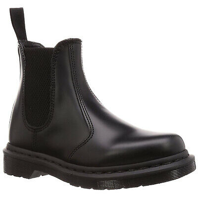 Smooth Leather Casual Ankle Pull-On Chelsea Unisex Stiefel (Drmartens Stiefel)