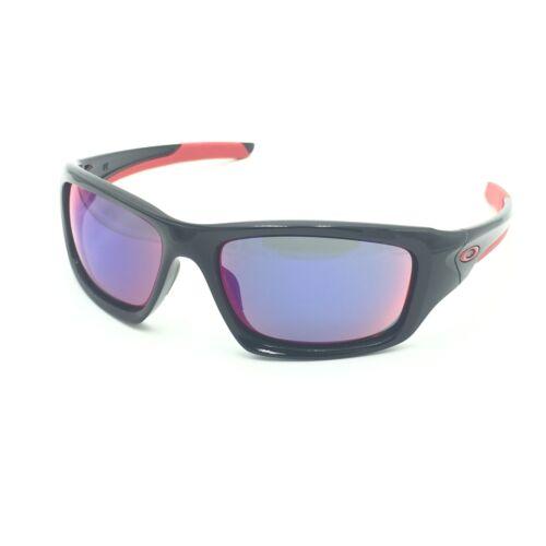 Oakley Valve OO9236-02 Polished Black Sunglasses W/ Red Irid