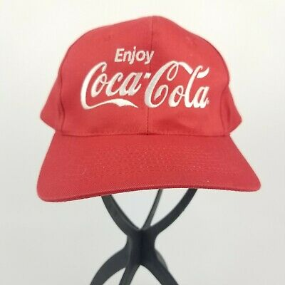 Enjoy Coca Cola Snapback Hat Red Baseball Hat Embroidered