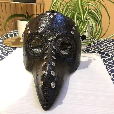 Plague Doctor Mask Halloween Bird Beak Raven Crow SteamPunk Mask Black