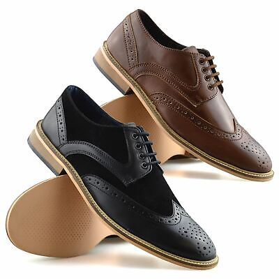 Mens Lambretta Casual Smart Formal Lace Up Oxford Brogues Work Office Shoes Size