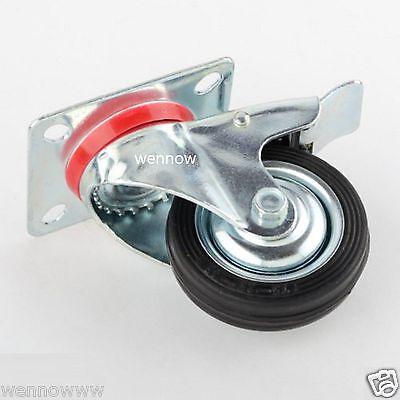 2 Pack  Heavy Duty 3 Swivel Caster Wdouble Bearing Brake