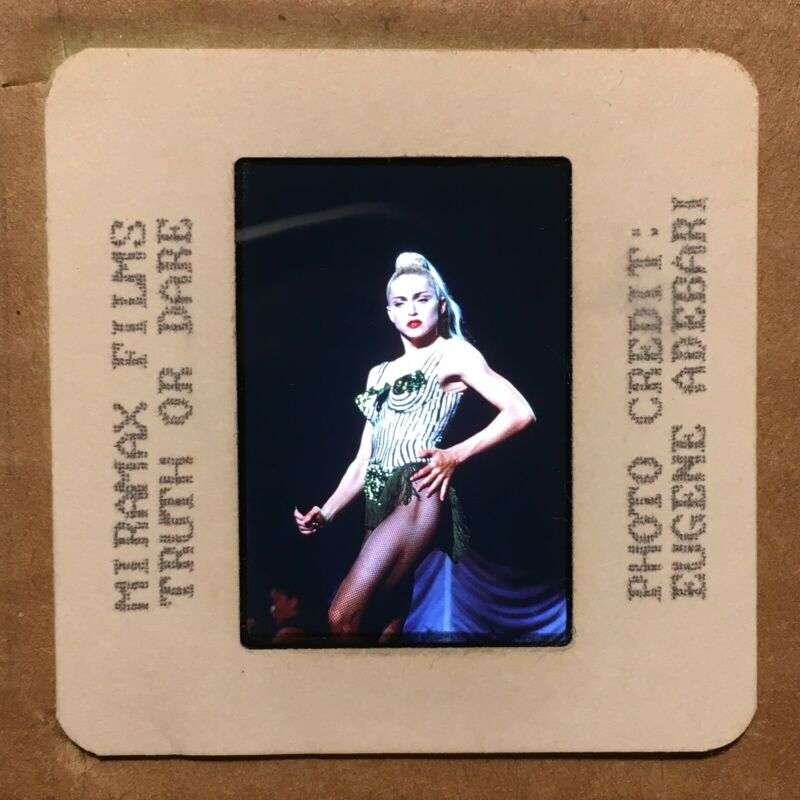 "MADONNA : Color 35mm ""PRESS PHOTO"" Slide @ 1990s Vintage POP ROCK Music"