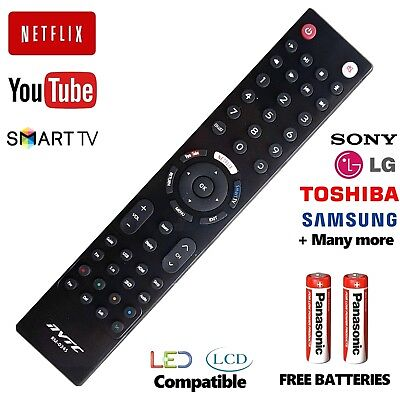 Universal Remote Control LG Sony Toshiba Samsung + Smart TV 3D LCD LED HD TV