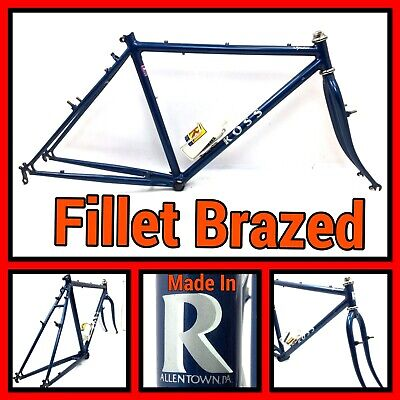 New NOS 55.5cm Tange #2 double butted CroMoly road bicycle lugged frame /& fork