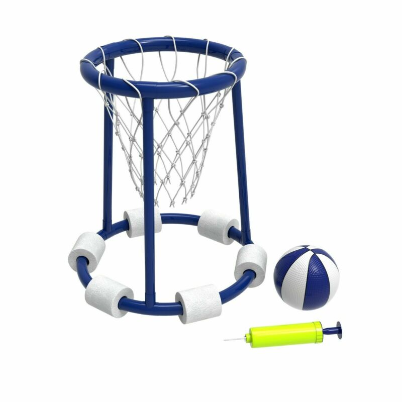 Foam Pool Basketball Hoop with Ball Includes Pump Floats on Water Kids