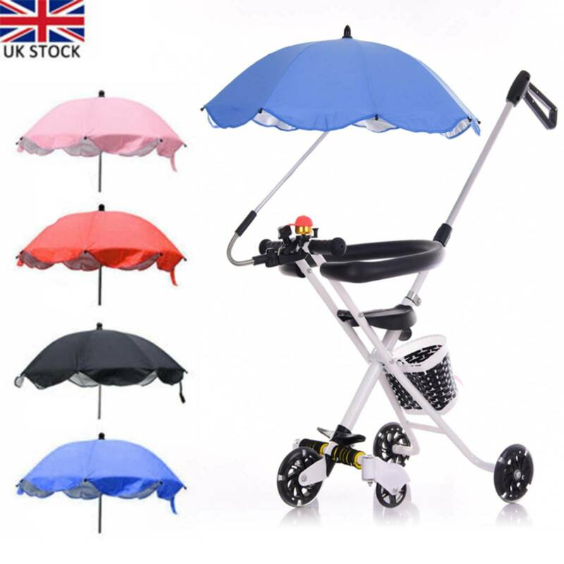 Parasol Pram Pushchair Universal Stroller Cover Buggy Sun Shade Baby Umbrella UK