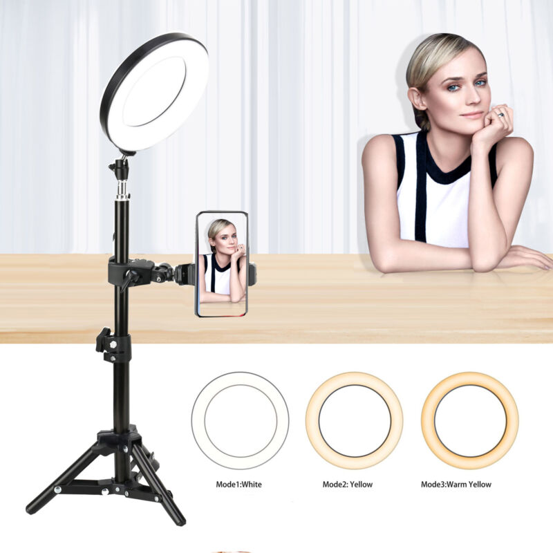 """ZOMEI 6"""" Photography LED Ring Light with Stand&Phone Adapter for Youtube Tiktok"""