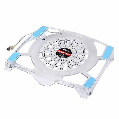 Frisby USB Blue LED Light Fan Laptop Notebook Quiet Cooling
