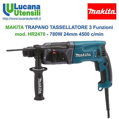 MAKITA TRAPANO TASSELLATORE 3 Funzioni SDS Plus mod HR2470 - 780W 24mm 4500c/min