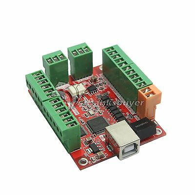 CNC USB MACH3 100Khz Breakout Board 4Axis Driver Motion Controller f/Stepper US