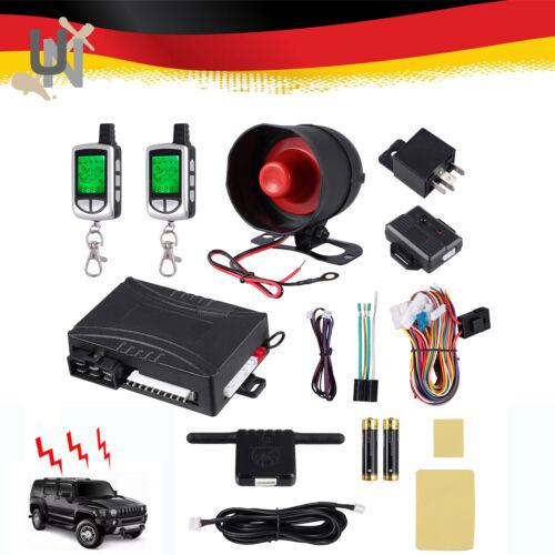 2 Wege Auto Alarmanlage Sicherheits Fernbedienungen Schutz-System Universal DE