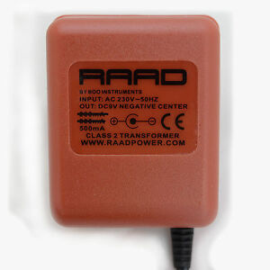 RAAD-power-supply-regulated-DC-9V-adapter-guitar-effect-pedal-center-negative