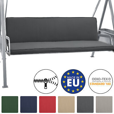 2 Set Bench Cushions Canopy Swing Seat Pads For 3 Seater Foam Pannel Anthracite