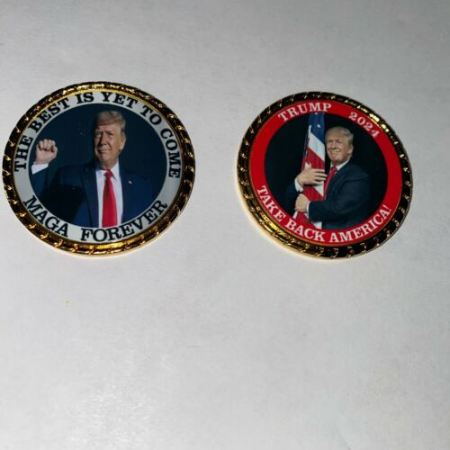 Trump Farewell  2024 Best is yet to come MAGA Forever  Roped Edge Coin