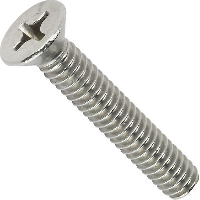 8-32 Flat Head Machine Screws Phillips Stainless Steel All Sizes Quantities