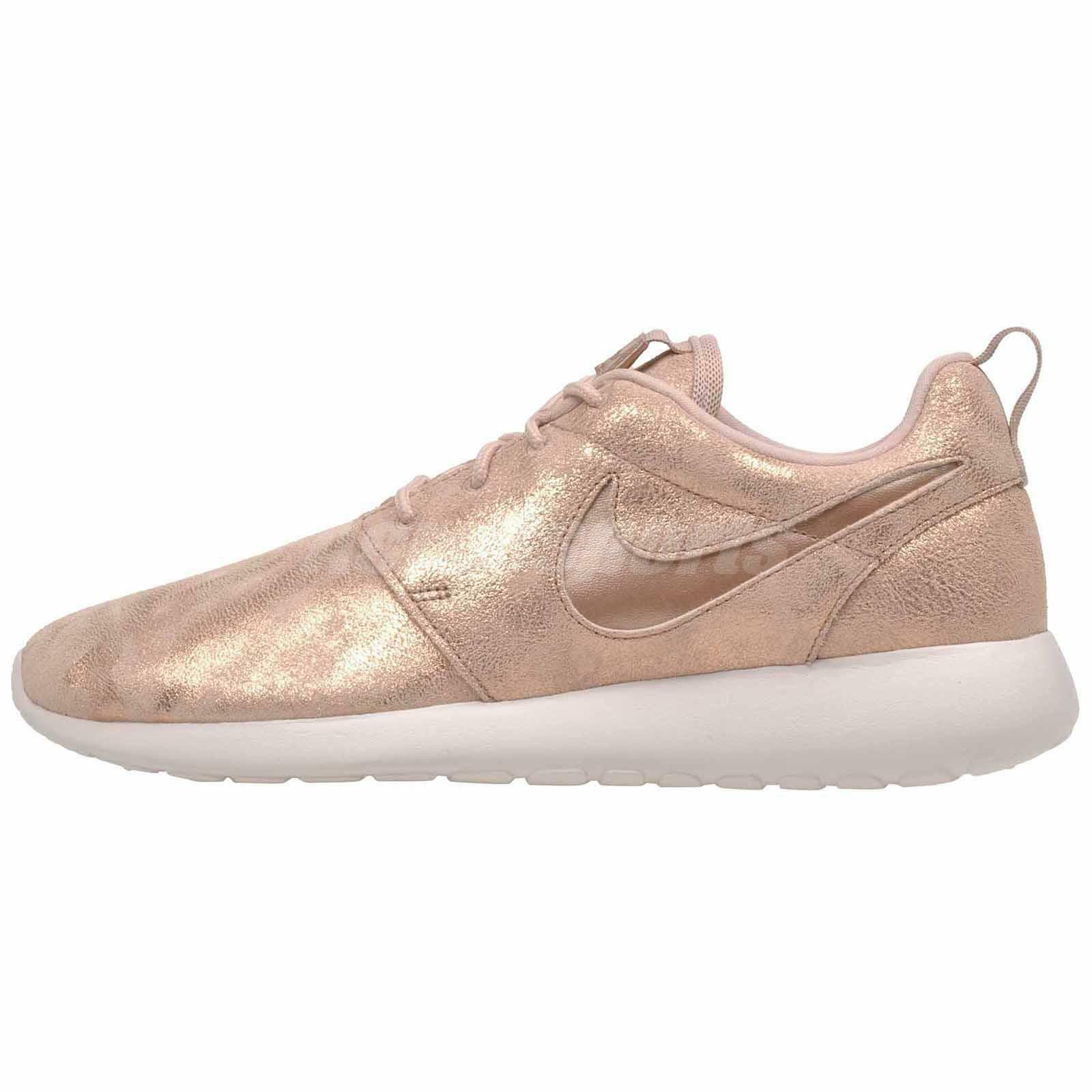 Nike Wmns Roshe One PRM Running Womens Shoes Metallic Bronze 833928-900